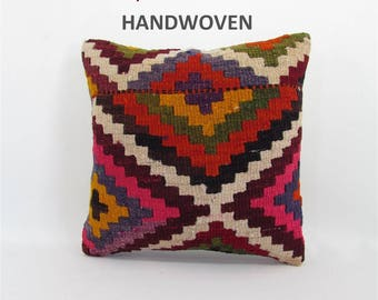 kilim pillow cover decorative pillow turkish pillow case bench cushion cover boho couch pillow case vintage decoration home design 000517