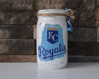 Kansas City Royals Decorative Quart Size Mason Jar