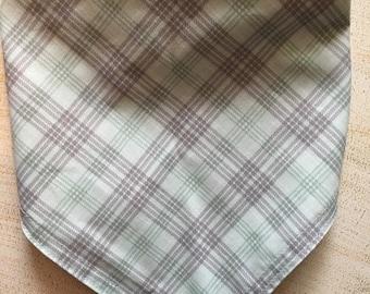 Plaid print bandana