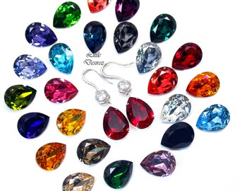 SELECT Your Color Swarovski Earrings Bridesmaid Bridal Earrings Wedding Jewelry Cubic Zircon Earrings Sterling Silver Hypoallergenic ALL31HC