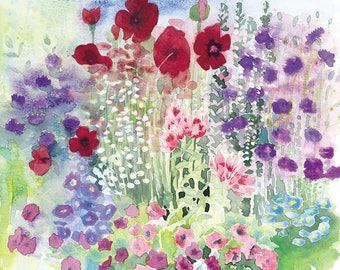 Cottage Garden Border Print