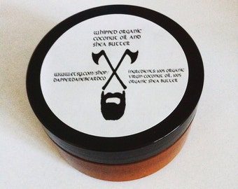 Organic body butter. Handmade body butter. Organic coconut oil and unrefined shea butter. Whipped body butter.  Natural moisturizer.