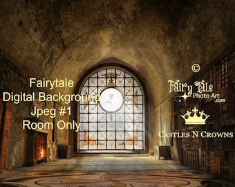 PRINCESS and FAIRYTALE LIBRARY Digital Backgrounds Storybook or Belle-inspired Includes 2 Jpeg Files