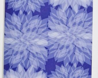Blue Dahlia Greeting Card, Design #3