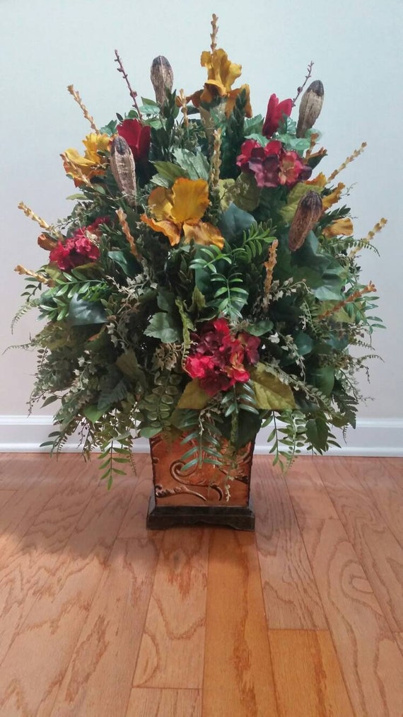 Extra large luxury fall autumn floral arrangement silk flowers mightylinksfo