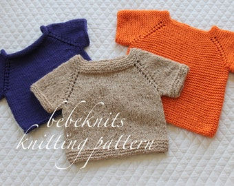 Bebeknits Simple Summer Toddler Sweater/Pullover