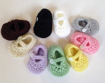 PREEMIE Baby Girl Booties, Preemie Baby Girl Shoes, Preemie Mary Jane Shoes, Preemie Newborn