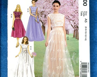 McCalls 500 David Tutera Romantic Wedding Skirt & Top Pattern Size 6 to 14 UNCUT