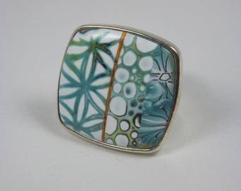 Square polymer clay ring