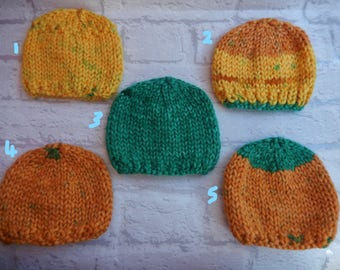 hand knit baby hat / knitted baby cap / baby boy hat / baby girl cap / newborn baby hat / newborn cap