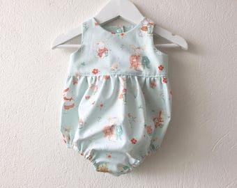 Baby girl romper Easter romper baby shower gift