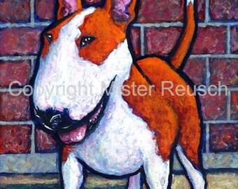 Bull Terrier Art Print By Mister Reusch