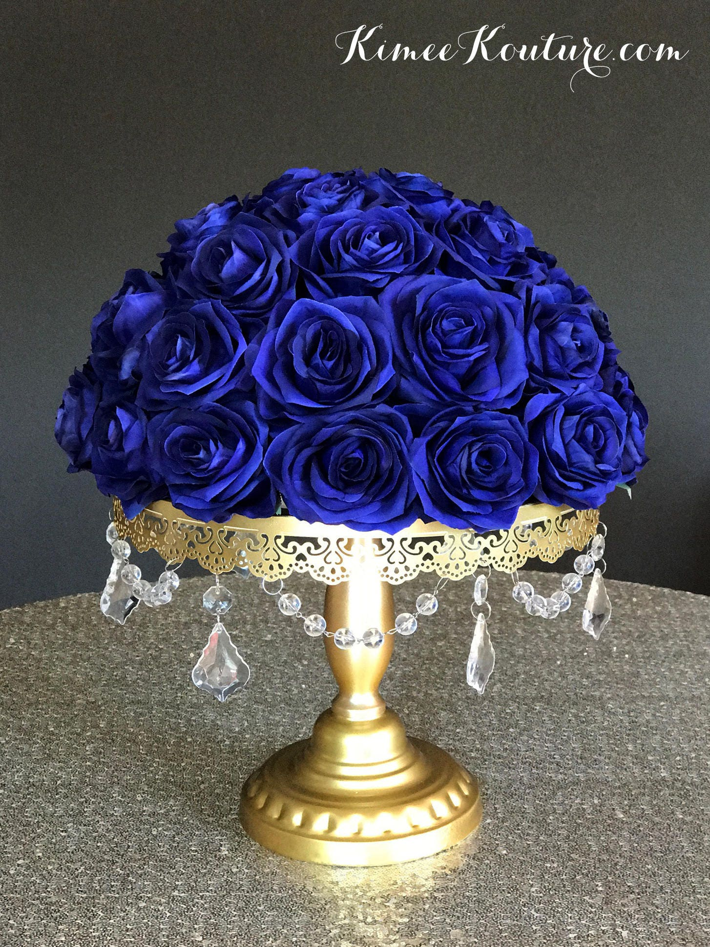 royal blue wedding centerpiece floral arrangement royal blue. Black Bedroom Furniture Sets. Home Design Ideas