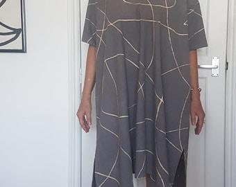 Bogolan 'Pirogue' Dress in DOODLE pattern.