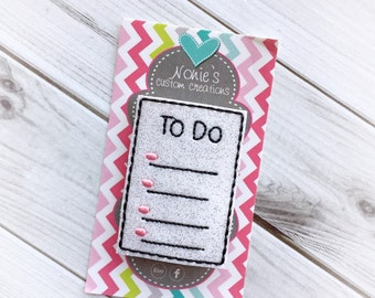 To Do List Paper Clip- To Do Paper Clip - Planner Accessories - To Do List Feltie- Planner Paper Clips - Planner Accessory - To Do List