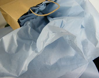 96 Dusty Blue Tissue Paper Sheets, Pale Blue Wedding Decor, Tissue Gift Packaging, 20 X 30 inches, DIY Party Decorations