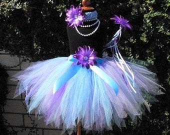 Abby Cadabby Inspired Pixie Tutu - Custom Sewn 15'' Pixie Tutu - any size newborn up to 5T - Flower Headband Included