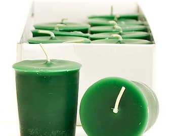 15 Hour Green Unscented Soy Votive Candles Pick A Pack