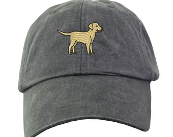 Yellow Labrador Retriever Hat - Embroidered. Yellow Lab Mom Baseball Hat.  Labrador Retriever Baseball Hat Cap. Labrador Mom Gift. HER-LP101