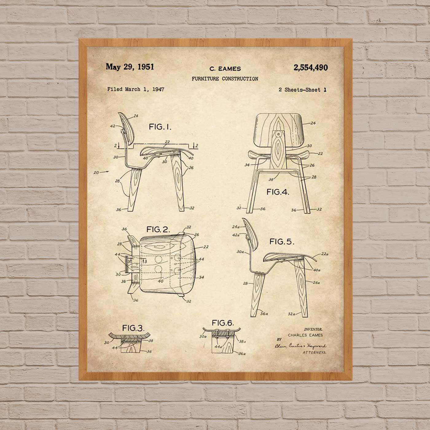 Eames Stuhl drucken Stuhl Kunst Eames Stuhl minimalistische