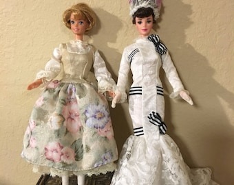 2 Vintage Hollywood Legends Barbies, Eliza Doolittle, My Fair  Lady. Sound Of Music Maria, barbie doll
