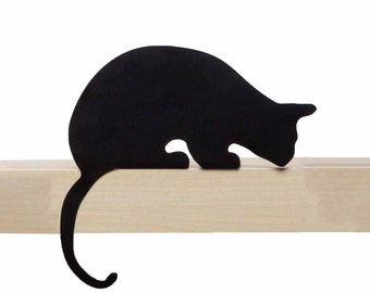 Cat's Meow // Sherlock // Metal Designed Art // Unique Gift // Black // Decorative Cat Silhouette by ArtoriDesign