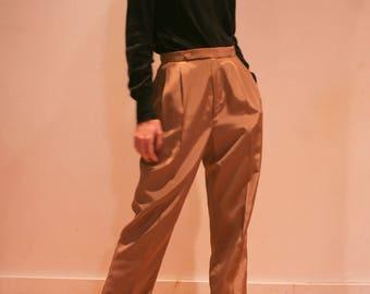 Vintage 90s Pleated Pants | Casual Pants | Size 8 | High Waist Pants | Womens Work Pants | Oversized Womens Pants | Boyfriend pants |