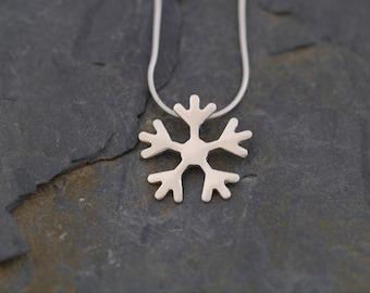 Eco friendly Silver Snowflake Pendant ( PMC Silver clay Silver Jewellery PMC Jewellery Snowflake necklace WildSilverJewellery )