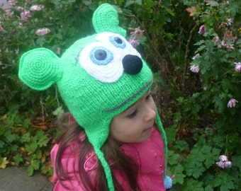 Gummy Bear inspired hat Gummibär Hat Halloween hat Halloween Costume Gummy Bear Costume Gummy Bear Hat Character knitted earflap hat : gummy bear halloween costume  - Germanpascual.Com