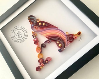 JJBLN | Quilled Paper Art: Monogram for A