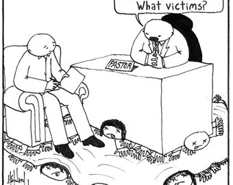 When the Church Denies and Dismisses its Victims CARTOON