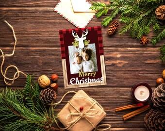 Rustic Reindeer Christmas Card