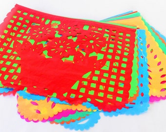 LARGE Paper Mexican Banner 16 Feet Long, Aztec Home Decor, Papel Picado  Garland,
