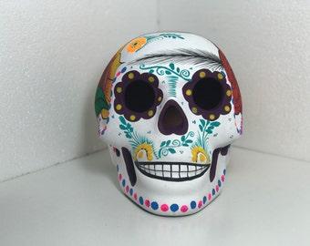 Sugar Skull Matte Painted Sculpture Matte