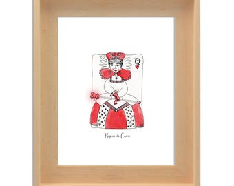 Print of The Queen of Hearts