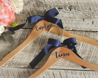 7 Bridesmaid Hangers Bride Personalized Wedding Dress Hanger