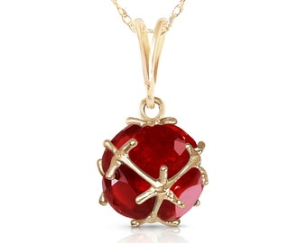 Rosso Gold NECKLACE With RUBIES