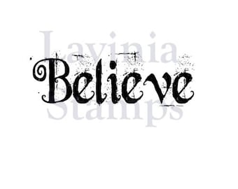 Word Stamp, Believe, Lavinia Stamps