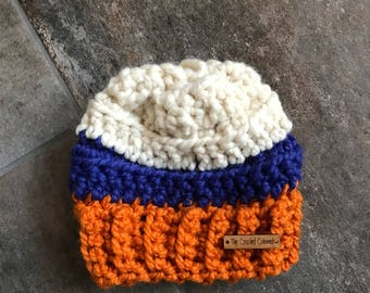 The Lennox Beanie, infant hat, infant beanie, Thunder fan hat, baby hat, READY TO SHIP