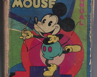 Mickey Mouse Annual #3 Issued 1932 (© 1931) Dean & Son UK RARE Walt Disney