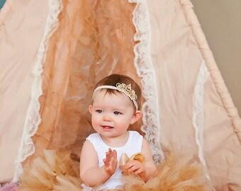 Gold Birthday Tutu Dress | Birthday Dress | Baby Girls