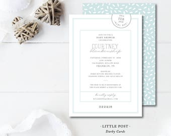 Little Post Baby Shower Invitations
