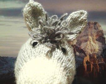 DONKEY Hand knit plush animal toy children