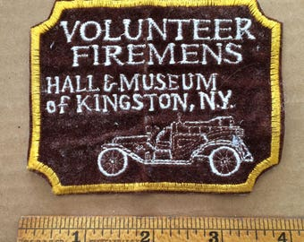 Vintage Volunteer Fireman's Museum Patch