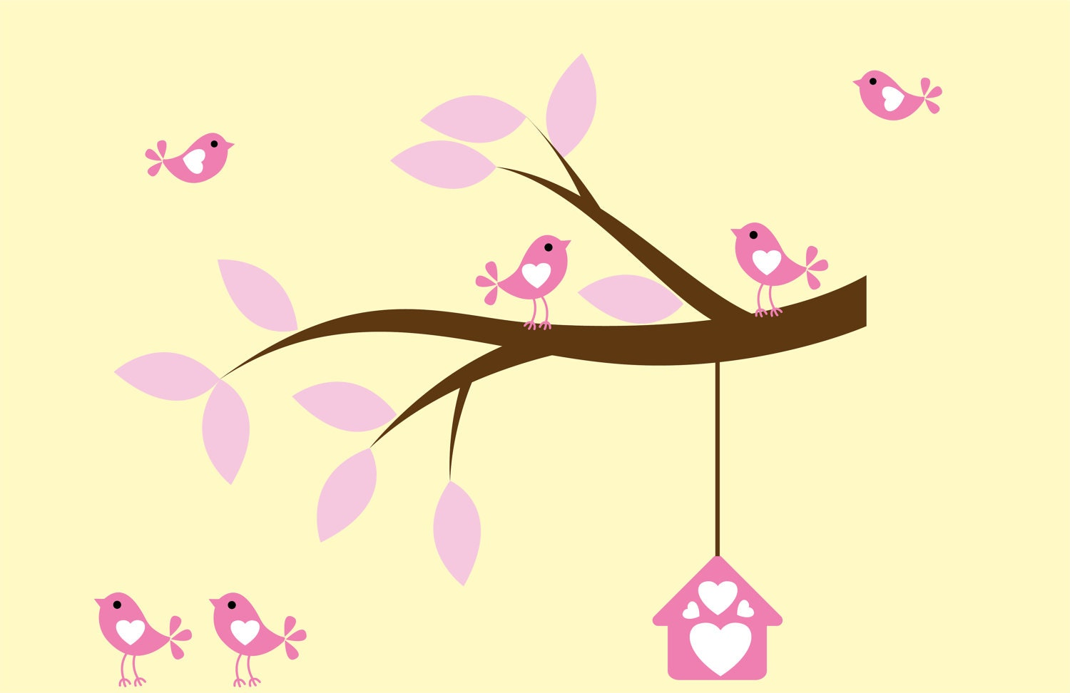 Nursery decal Kids decals vinyl wall art tree branch