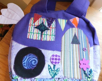 Fun Appliqued Camper Bag, 10 inches x 9 inches x 3 inches