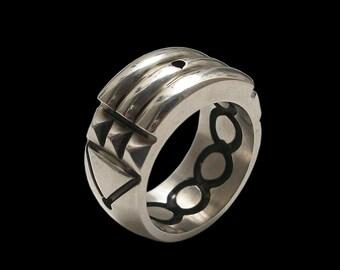 Atlantis ring - Sterling Silver Atlantis Ring -ALL SIZES- Black Finish
