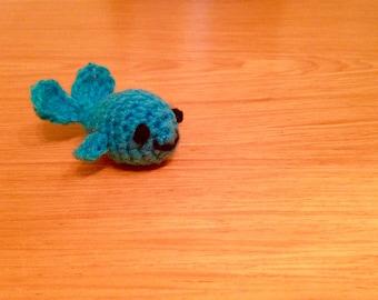 Handmade Crocheted Mini Whale Soft Toy
