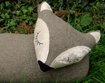 Fox decor.  A fox draught excluder, made from a soft pure wool.  Draft excluder.