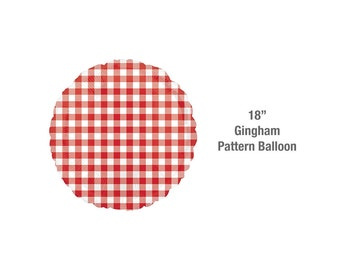 Gingham Balloon for BBQ Decorations   BBQ Party Decorations Cookout Decor July 4th Decor Pig Roast Party Supplies Picnic Supplies Summer